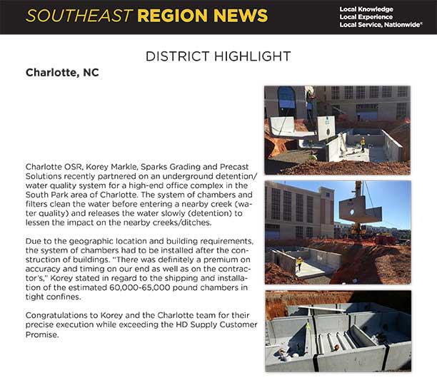 Southeast Region Newsletter article